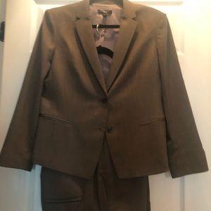 Ann Taylor Three-Piece Herringbone Classic Suit